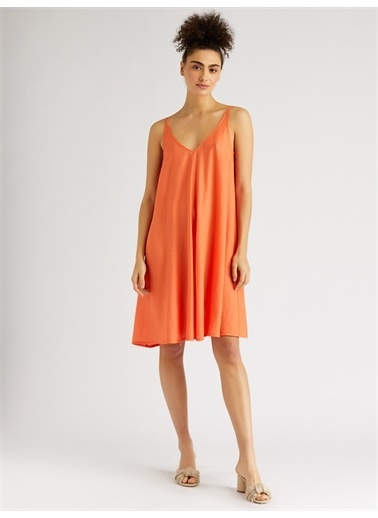 Vekem-Limited Edition Elbise Oranj